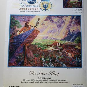 Disney Thomas Kinkade Lion King Cross Stitch Kit